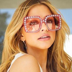 Diff Sunglasses Bling Pink Square Sasha